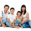 Fullbody happy Asian family - Stock Photo