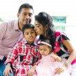 Outdoor Indian family — Stock Photo