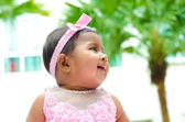 Outdoor Indian baby girl — Stock Photo