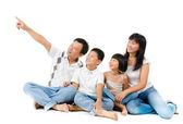 Southeast Asian family — Stock Photo