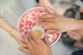 Chinese wedding tea ceremony — Stock Photo