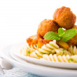Fusilli Meatball — Stock Photo #13482750