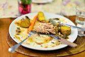 Resztki jedzenia — Zdjęcie stockowe