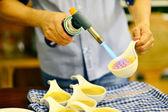 奶油布丁 — 图库照片