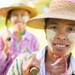 Myanmar farmer — Stock Photo