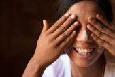 Shy Myanmar girl — Stock Photo