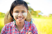 Burmese farmer — Stock Photo