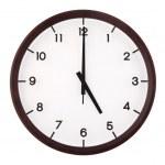 Classic analog clock — Stock Photo