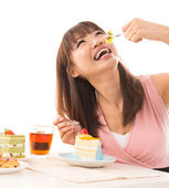 Eating cakes — Stock Photo