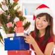 Preparing for Christmas day - Stockfoto