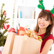 Buying Christmas gift - Stockfoto