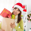 Christmas gift shopping — Stock Photo