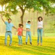 Joyful Asian family — Stock Photo