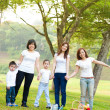 Stock Photo: Outdoor fun family