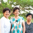 Three Asian senior women — Stock Photo