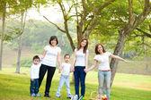 Outdoor fun family — Stock Photo