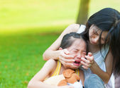 Crying little Asian girl — Stock Photo