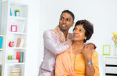 Indian family looking away — Stock Photo