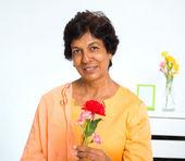 Mature Indian woman — Stock Photo