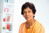 Indian mature woman — Stock Photo