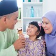 Royalty-Free Stock Photo: Asian family eat ice cream