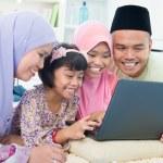 Muslim family interaction — Stock Photo