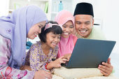 Muslim family interaction — Stock Photo