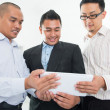 Southeast Asian businessmen discussion — Stock Photo