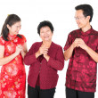 Royalty-Free Stock Photo: Chinese family greeting