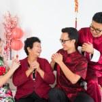 Happy Asian family reunion — Stock Photo #18374925