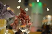 Banquet wedding table setting — Stock Photo