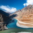 Stock Photo: Zanskar and Indus rivers