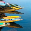 Boats at the Dal Lake Srinagar - Stock Photo