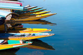 Boats at the Dal Lake Srinagar — Stock Photo