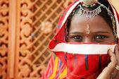 Traditionelle indische frau — Stockfoto