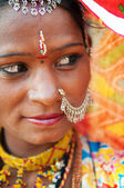 Traditional Indian woman looking away — Stock Photo