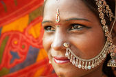 Traditional Indian woman closeup — Stock Photo