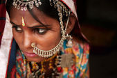 Portrait of Traditional Indian woman — Stock Photo