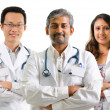 Stock Photo: Multiracial doctors