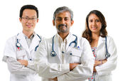 Multiracial doctors — Foto Stock