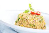 Chinese egg fried rice — Stock Photo