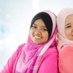 Happy Muslim women — Stock Photo #19619835