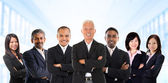 Asian business team in multiracial. — Stock Photo
