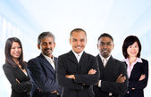 Multiracial Asian business team — Stock Photo
