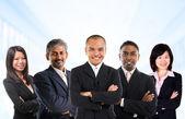 Multiracial Asian business team — Stock Photo