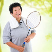 Asian senior sport — Stock Photo