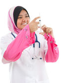 Muslim female medical doctor — Stock Photo