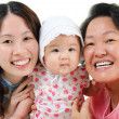 Stock Photo: Three generations Asian family