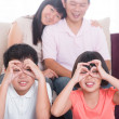 Stock Photo: Southeast Asifamily at home