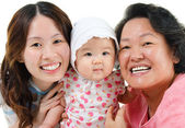 Three generations Asian family — Stock Photo